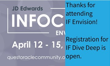 JD Edwards InFocus Envision Conference April 2021